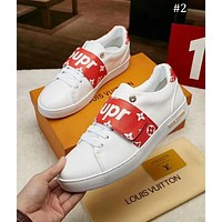 LV x Supreme co-branded fashion casual sports white shoes men's shoes #2