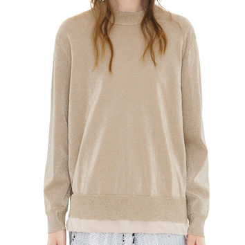 Acne Studios Mysti Lurex Gold Sweater
