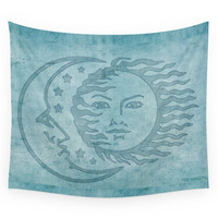 Society6 Sun Moon And Stars Batik Wall Tapestry