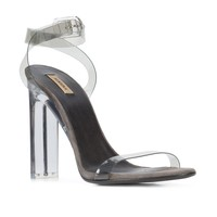 Transparent Open-Toe Strap Heels by YEEZY