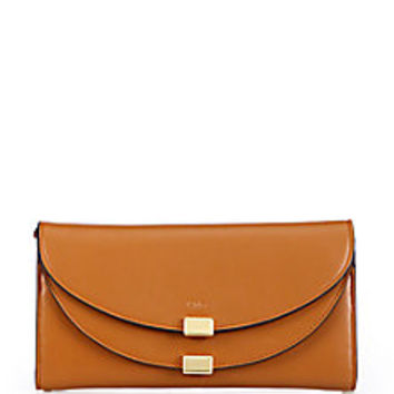 Chloé - Georgia Leather Continental Wallet - Saks Fifth Avenue Mobile