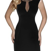 Miusol Women's Mesh Stretch Fitted Business Bodycon Dress