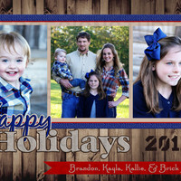 Rustic Personalized Christmas/Holiday Card - Printable