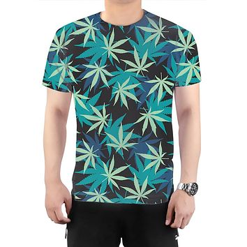 Blue & Green Weed T-Shirt