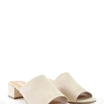 Faux Suede Mules
