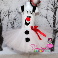 Disney Frozen inspired Olaf tutu dress