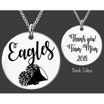 Cheer Team Mom Necklace | Personalized Team Mom Necklace