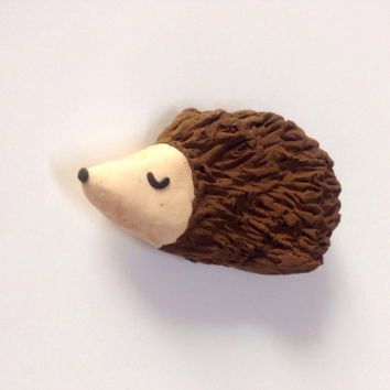 Hedgehog Magnet Polymer Clay Hedgehog Whimsical Hedgehog gift