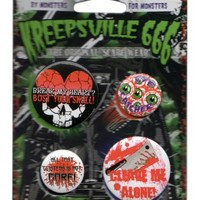 Kreepsville 666 Gore Badge Set | Attitude Clothing