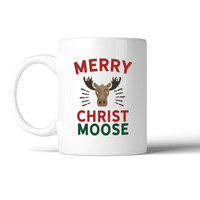 Merry Christ Moose Mug Christmas Gift Idea Cute Ceramic Mugs