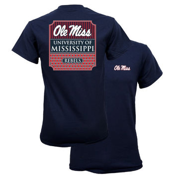 Southern Couture University of Mississippi Ole Miss Rebels Classic Preppy Girlie Bright T Shirt
