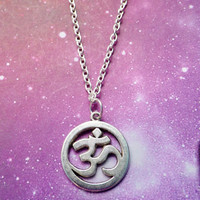 Om pendant necklace