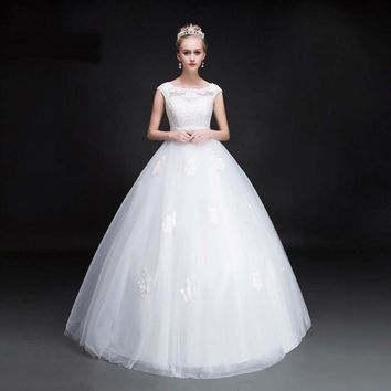 Ball gown Cap sleeve Applique Tulle Beaded Waistband Gorgeous Wedding dresses