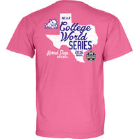 NCAA Texas Christian University College World Series CC Pink Great State