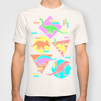 Nineties Dinosaur Pattern T-shirt by Chobopop