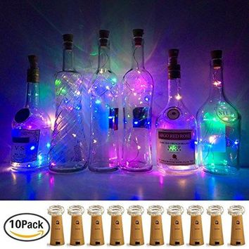 Wine Bottle Lights with Cork, LoveNite 10 Pack Battery Operated LED Cork Shape