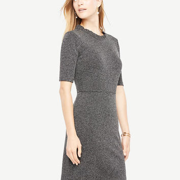 Ruffle Neck Sheath Dress | Ann Taylor