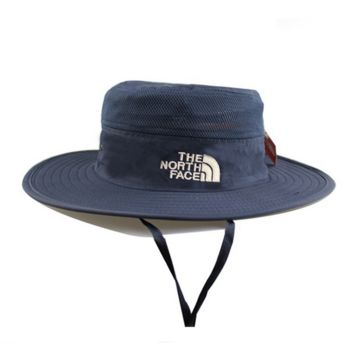 Navy Blue Outdoor Summer Fishing Hat Climbing UV Protection Sun Bucket Hats Curtain Cycling Breathable Visors