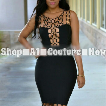 Prissily Luxe Bandage Dress