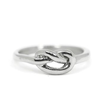 Stainless Steel Love Knot Ring