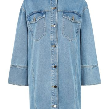 Deep Cuff Denim Dress by Boutique | Topshop