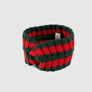 DCCKB62 GUCCI Popular Women Men Stripe Wool Sport Headband I