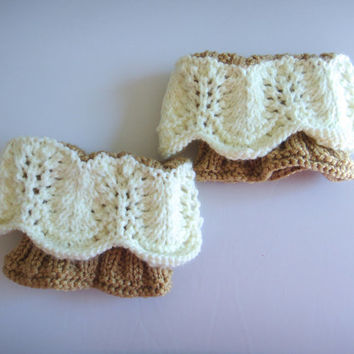 Boot Socks, Boot Toppers, Knit Boot Cuffs