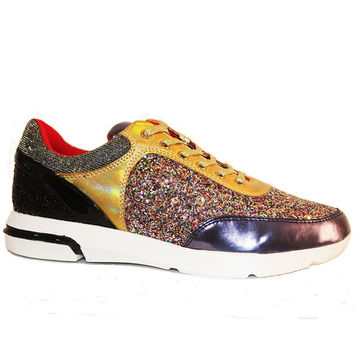 Wanted Hayes - Multi Metallic/Glitter Lace-Up Sneaker