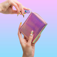 FOLD WALLET - HOLOGRAPHIC PINK