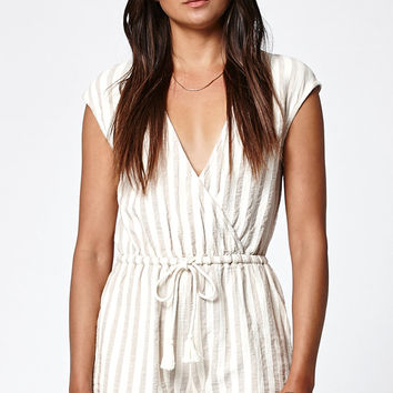 Rhythm Coastal Stripe Surplice Romper at PacSun.com