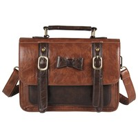 Ecosusi Vintage Messenger Purse School Satchel