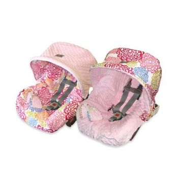 Itzy Ritzy Baby Ritzy Rider Infant Car Seat Cover in Fresh Bloom