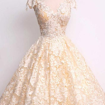 Cupshe Sweet as a Song Lace Dress