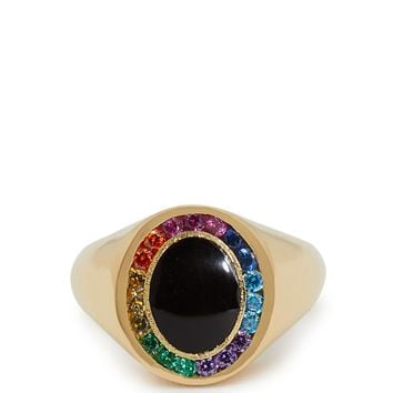 Rainbow Candy 18kt gold & sapphire signet ring | Jessica Biales | MATCHESFASHION.COM US