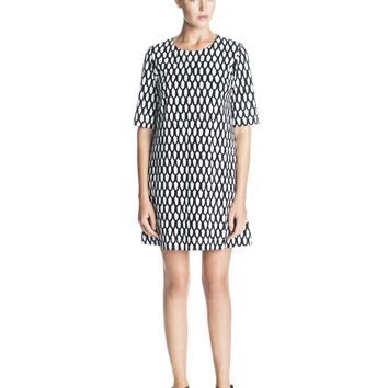 UJUMA MARIMEKKO DRESS BLACK/WHITE