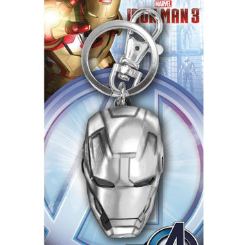 Marvel Iron Man 3 Head Pewter Keychain