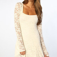 The Flirt For You Dress in Alabaster Combo
