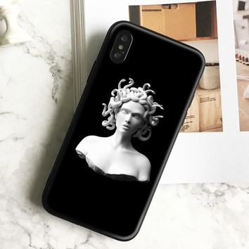 Medusa Plaster statue Art Tpu Soft Silicone Phone Case Cover Shell For Apple iPhone 5 5s Se 6 6s 7 8 Plus X XR XS MAX