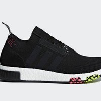 Adidas Originals Men's NMD_ RACER PRIMEKNIT Shoes Core Black/Solar Pink CQ2441 c