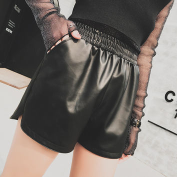 Summer Women's Fashion Slim Black Shorts [10204559623]