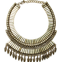 Night In Armor Necklace - Gold