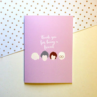 Golden Girls Card - Thank You For Being A Friend -  Cute Fun Funny - 5x7