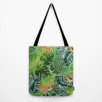 Jungle Tangle Paradise Tote Bag by ALLY COXON | Society6