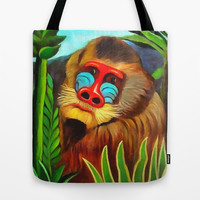 Henri Rousseau Mandrill In The Jungle Tote Bag by Art Gallery