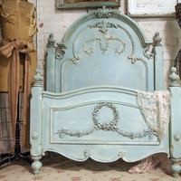 Painted Cottage Aqua Chic Romance Bed BD157 by paintedcottages