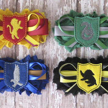 Bridal Party Harry Potter Garter Set | Wedding Photo Prop, Bachelorette Party | Gryffindor, Ravenclaw, Hufflepuff, Slytherin