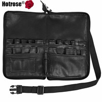 Hotrose 28 Pockets Makeup Brushes Apron Artist Belt Strap Organizer