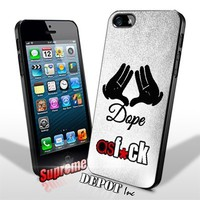 Dope As F*ck Mickey Hands White Grunge iPhone 5/5s Case By SD Inc