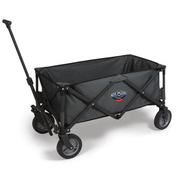 New Orleans Pelicans - 'Adventure Wagon' Folding Utility Wagon by Picnic Time (Dark Grey)