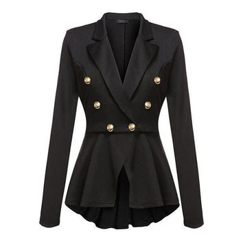 Fashion Brand Blazers Coat Black Red Women Slim Elegant Jacket Female Work Wear Casaco Feminino Woman Clothes Office Clothing